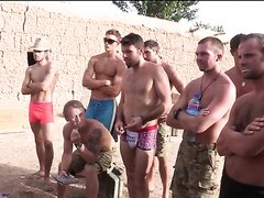 Soldats in the army relaxing time
