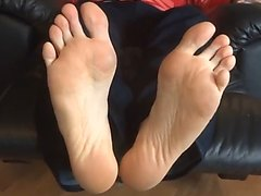 Straight soles at your face