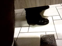 Public bathroom spy
