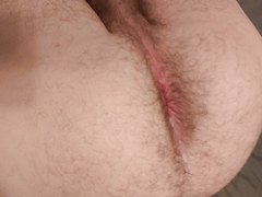 Hairy hole farting