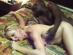 MILF blonde rammed by a black cock