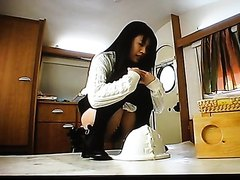 Japanese pooping girl spy cam