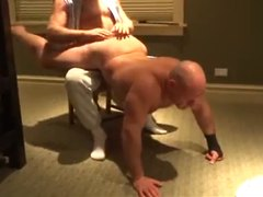 Muscle Sub Getting Spanked