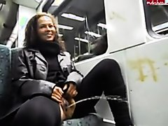 Pissing Passenger by train