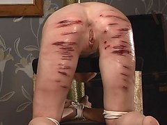 skinny girl gets hard caning