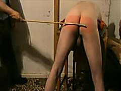 Caning of a bad boy