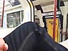 Wanking on London Underground