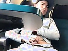 Jerking off on public train