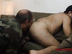 army guy has fun
