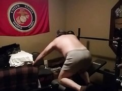 Hot Bear Works Out and Farts Loud