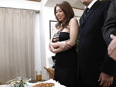Japanese babe is fucked in her nylons