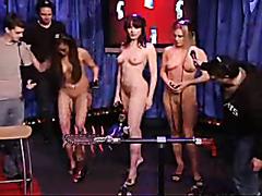 Tila Tequila enjoys a pussy licking machine