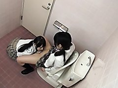 Jap Lesbian School Bathroom
