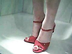 Cross red Heels