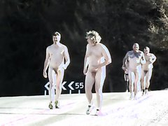 Rugbylads run naked in public