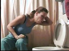 Toilet puking