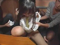 Drunk girl puke