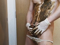 Shit and cum -jpgayscat 180315-