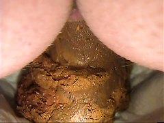 Inside view pooping in diaper behind