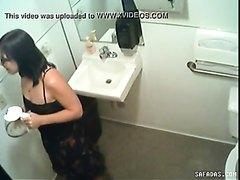 Hidden cam peeing