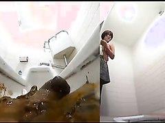 Japanese public toilet overshit