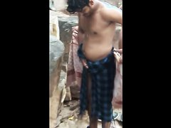 Indian man shows dick outdoor