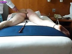 19 yr old slave28-Strapped bottom