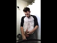 Straight Piss / Cum : Cute Male Pisses On Himself 1