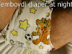 woke up in the middle of the night - wet my cute crinklz diaper