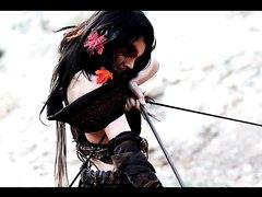 warrior elf girl vs Roman Cosplay produced