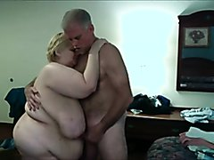 SSBBW gets some cock slapping