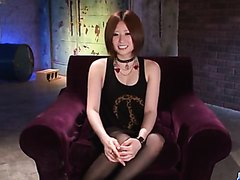 Ruri Haruka shows off riding her new toy cock - More at j....net