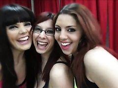 3 spanish girl in bukkake