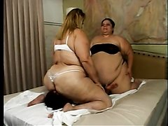two ssbbw and one skinny girl facesitting