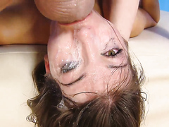 Teen slut sucks dick and gets anal