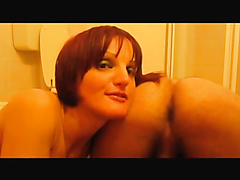 Wife eating shit