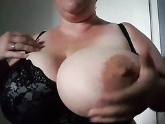 Fat woman with gigantic tits