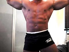 Body Builder filling his hole