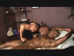 Black muscle gets a through massage