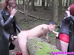 humiliated by two queens in the woods