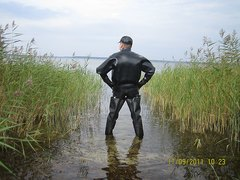 full rubber and of course: WADERS