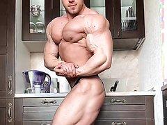 ♠ TopManFL ♠ / Muscle Stud Poses - Sexy Black Posing Suit Hot Short Clip