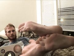 Str8 Blonde Guy Showing His Feet