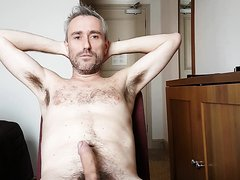 Man takes off all his clothes