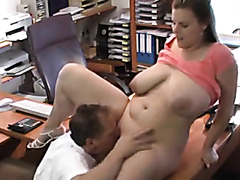 Busty BBW owns the job interview