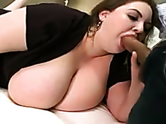 Big tits BBW rides a fat cock