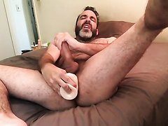 Bear Fucks His Ass and Exposes His Naked Body