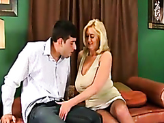 Anal drilling for a super busty blonde cougar