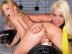 two beauties play who can orgasm the hardest on the Sybian