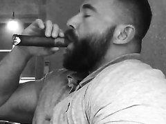 Amazingly hot alpha cigar smoker